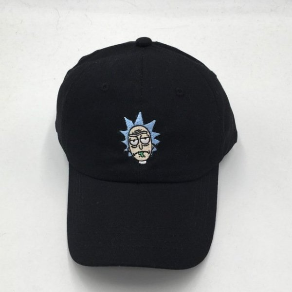 which in shower cotton embroidery Rick and Morty cap cartoon Rick Smoking dad hats for women men hip hop snapback baseball caps 9