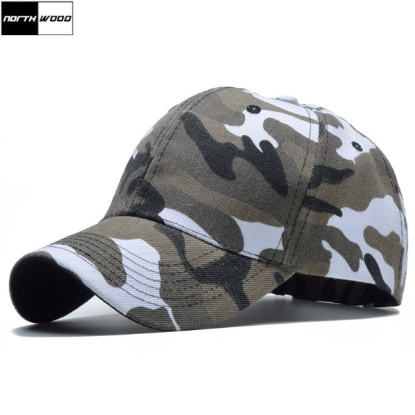 Snow Camo Baseball Cap Men Tactical Cap Camouflage Snapback Hat For Men High Quality Bone Masculino Dad Hat Trucker 1