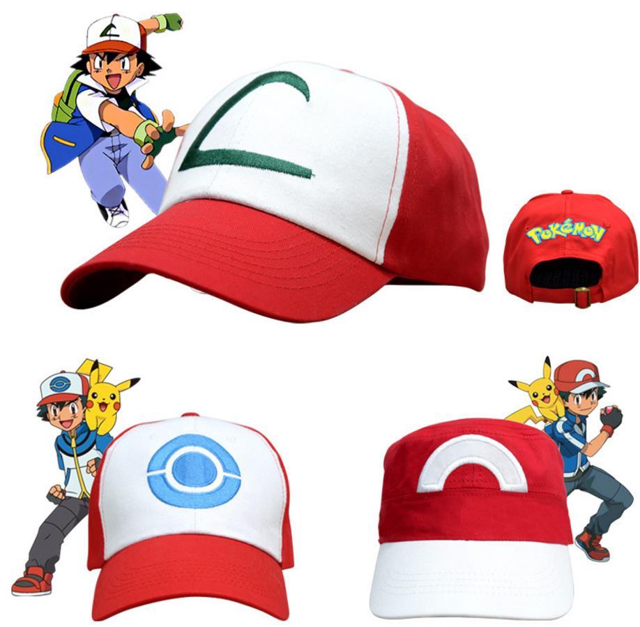 Anime Pocket Monster Cosplay Costumes Hats Pokemon Cap Ash Ketchum ... bb20f0a234e