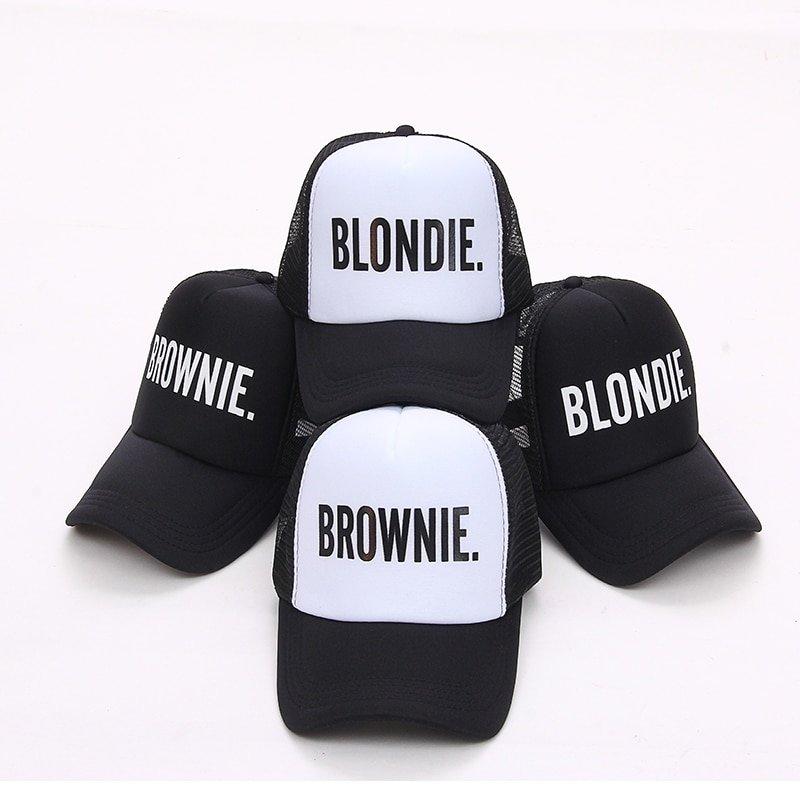 58a6e866ba93b6 BLONDIE BROWNIE Baseball caps Trucker Mesh cap Women Gift For ...