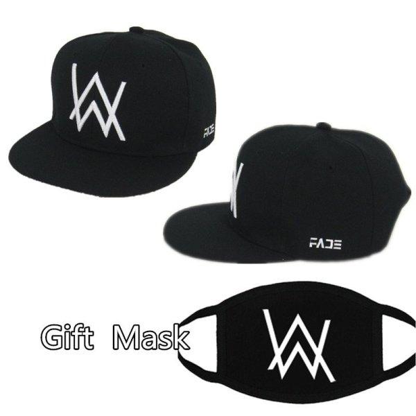 DJ Alan Walker Cosplay Costumes Hats Adjustable Black Cap With Gift Mask 1
