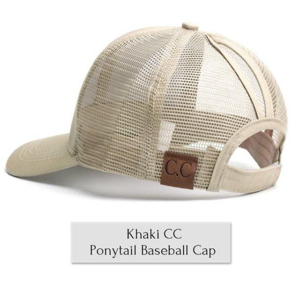 df0c6d9192a Drop Shipping CC Glitter Ponytail Baseball Cap Women Messy Bun Baseball Cap  Girls Snapback Caps Summer Sports Mesh Hats