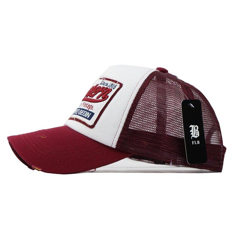FLB  Summer Baseball Cap Embroidery Mesh Cap Hats For Men Women Gorras  Hombre hats Casual ... 4efa801d3902