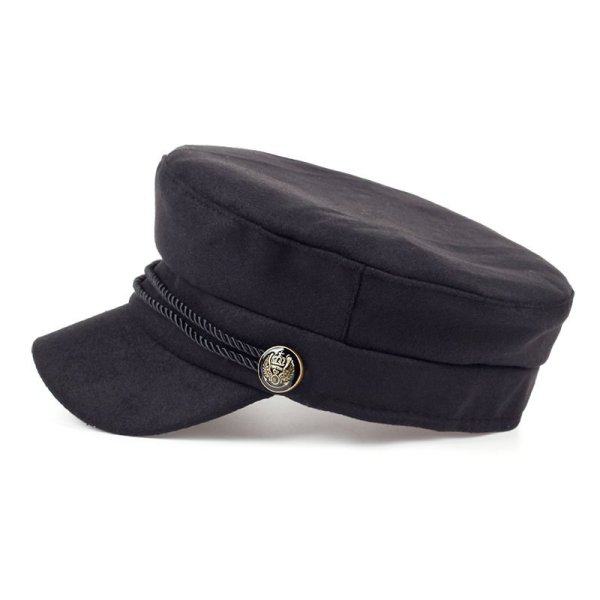 Fashion Blank Black High Quality Newsboy Caps for Women Spring Autumn Winter Hats Felt Cap Winter Ladies Black Hat Beret Cap 3