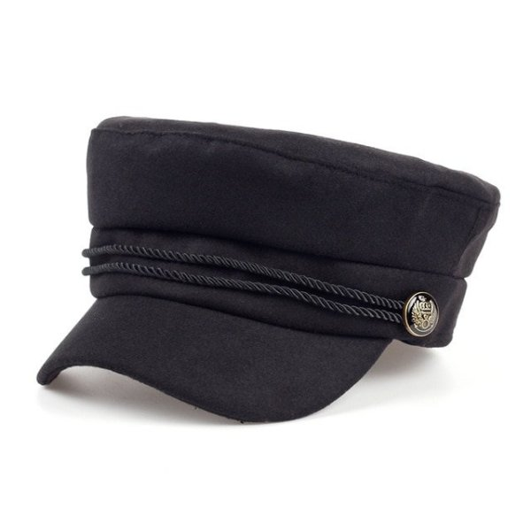 Fashion Blank Black High Quality Newsboy Caps for Women Spring Autumn Winter Hats Felt Cap Winter Ladies Black Hat Beret Cap 6