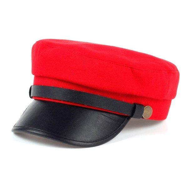 Fashion style Hex hat Unisex Newsboy Cap men Solid color cotton High Quality cowboy gorras planas man Berets Double fabric Casua 1