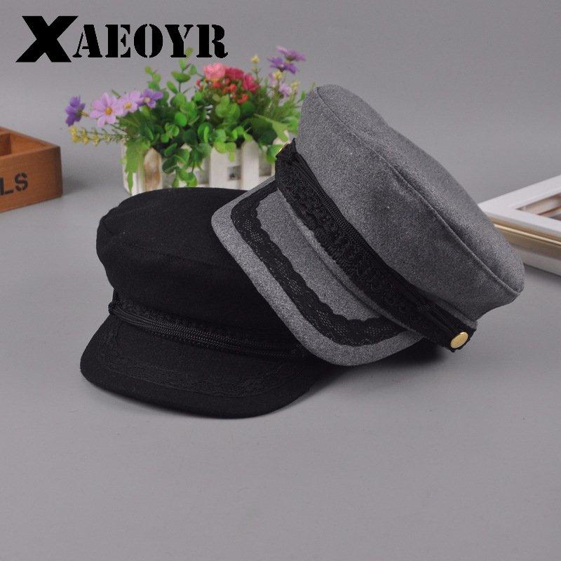 ff107cf1dd2 Hats For Women Men Octagonal Cap Wool Button Baseball Caps Sun Visor Hat  Gorras Casquette Touca Black Casual. Sale! 🔍. capshop.store