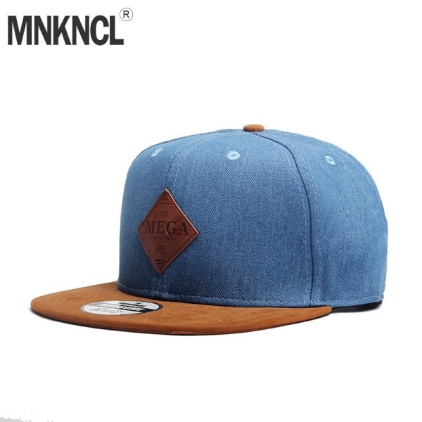 MNKNCL High Quality Snapback Cap MEGA Embroidery Brand Flat Brim Baseball Cap Youth Hip Hop Cap and Hat For Men and Woman 1