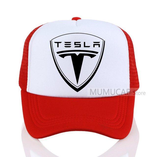 New Tesla Men Baseball Cap Men Women Summer Trucker Caps Letter ... 63a99bdd8c9
