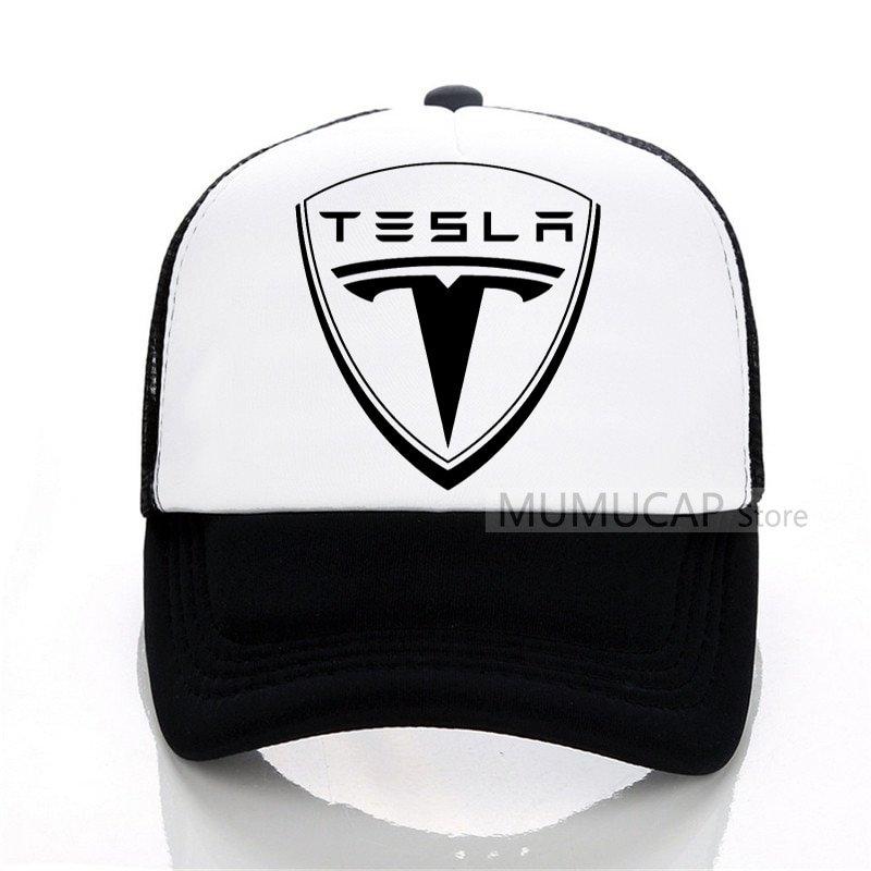 6d14a4acaad New Tesla Men Baseball Cap Men Women Summer Trucker Caps Letter ...