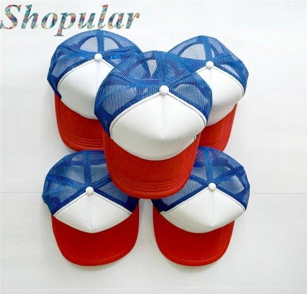Stranger Things Dustin HAT RED WHITE BLUE Trucker Baseball Mesh Cap Adjustable Hat Costumes Cosplay 2