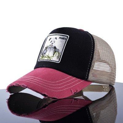 TQMSMY Unisex sun hats for men Hip Hop Hat Breathable Mesh Baseball Caps Women Embroidery panda Snapback caps Summer Gorras 7