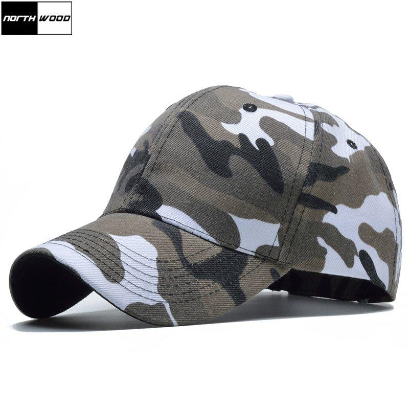 813d5c67210 2017 Snow Camo Baseball Cap Men Tactical Cap Camouflage Snapback Hat ...