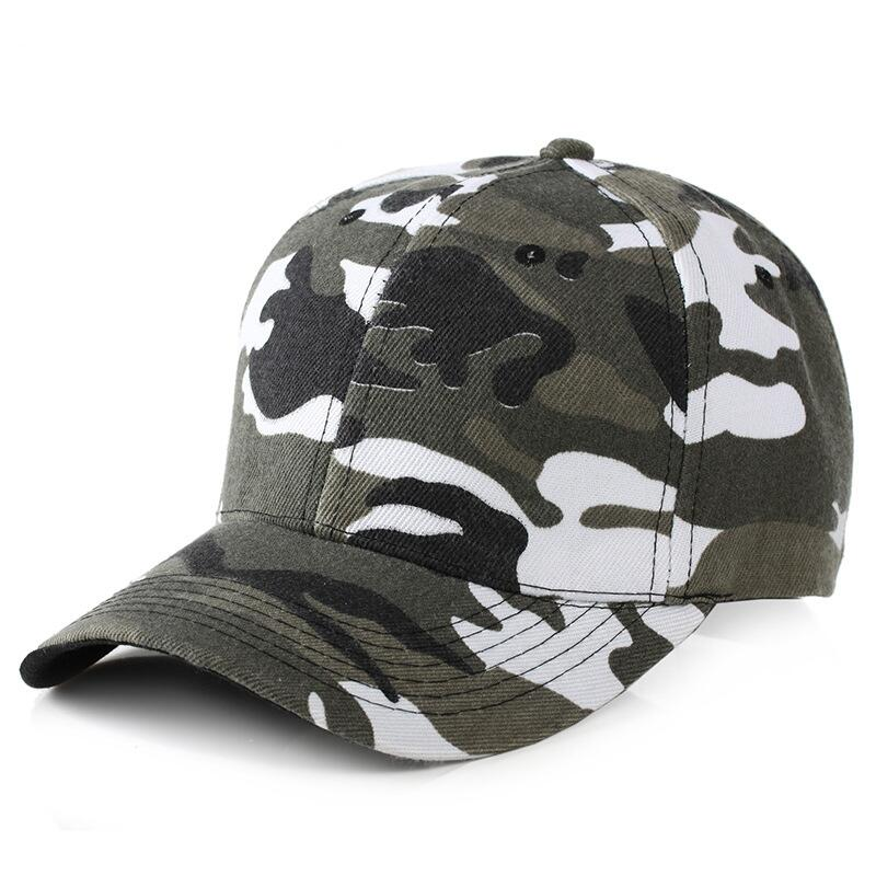 bc295e70ee7 2018 Snow Camo Baseball Cap Men Tactical Cap Camouflage Snapback Hat ...