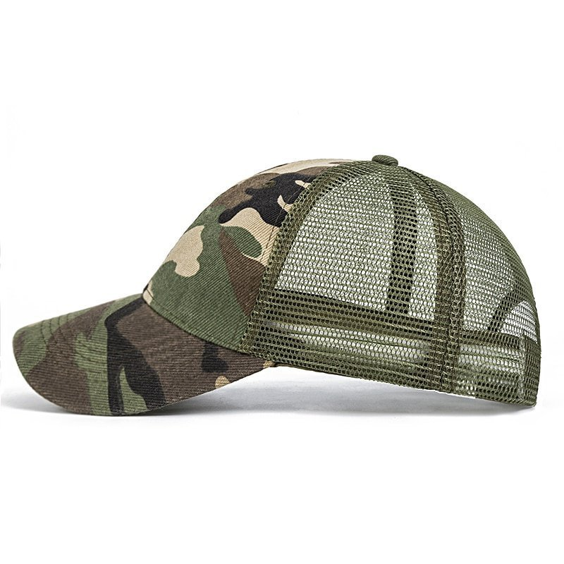 f3454a1f749 2018 Snow Camo Baseball Caps Men Summer Mesh Cap Tactical Camouflage ...