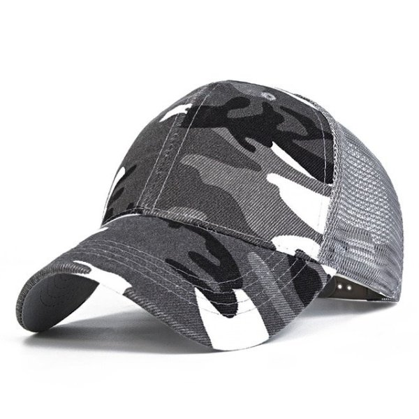 Snow Camo Baseball Caps Men Summer Mesh Cap Tactical Camouflage Hat For Men Women High Quality Bone Masculino Dad Hat Caps 4