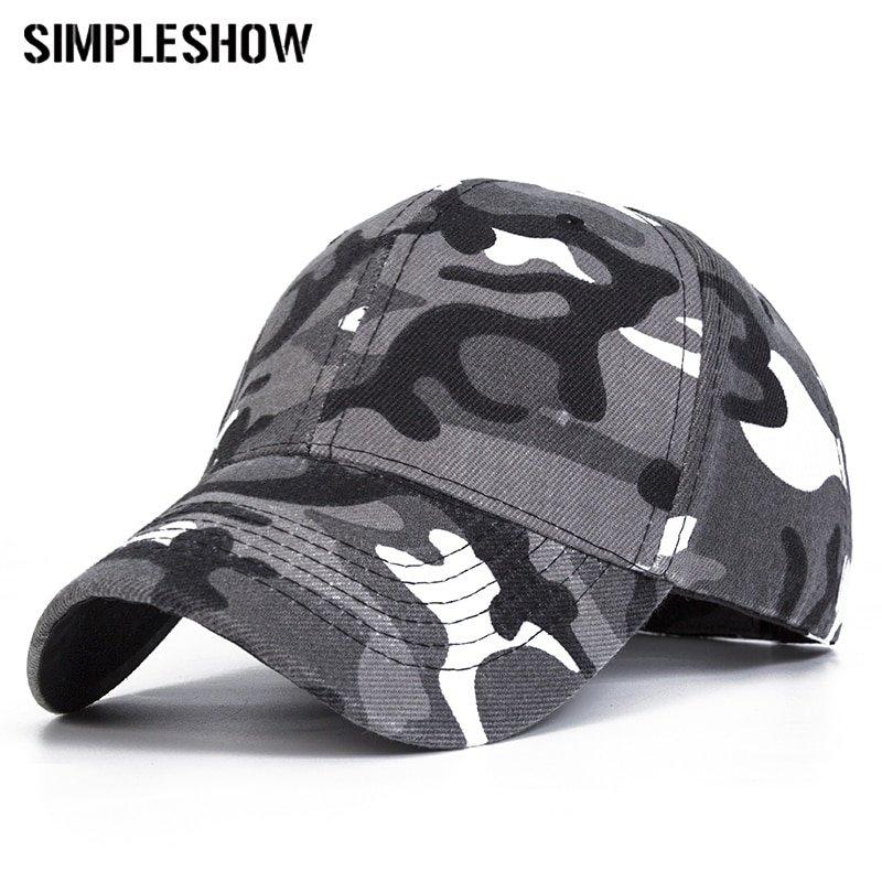 8b71c5d76ee 2018 Snow Camo Baseball Caps Men Summer Mesh Cap Tactical Camouflage ...