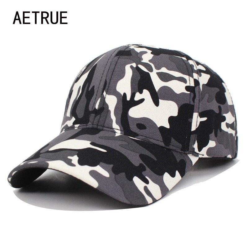 e521bcbb10c AETRUE Camo Baseball Cap Men Snapback Caps Women Camouflage Army ...