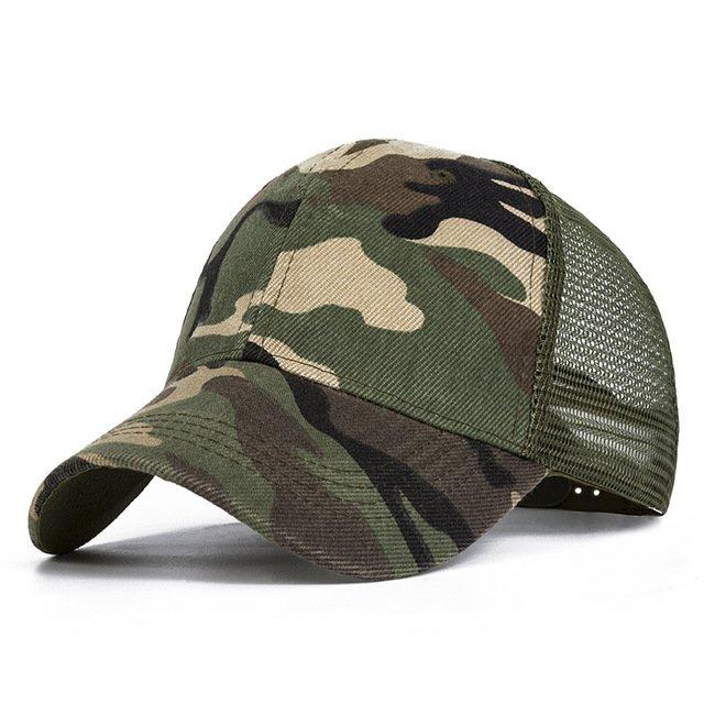 Evrfelan Camo Mesh Baseball Cap Men Camouflage Caps Masculino Summer ... d70572747b1a