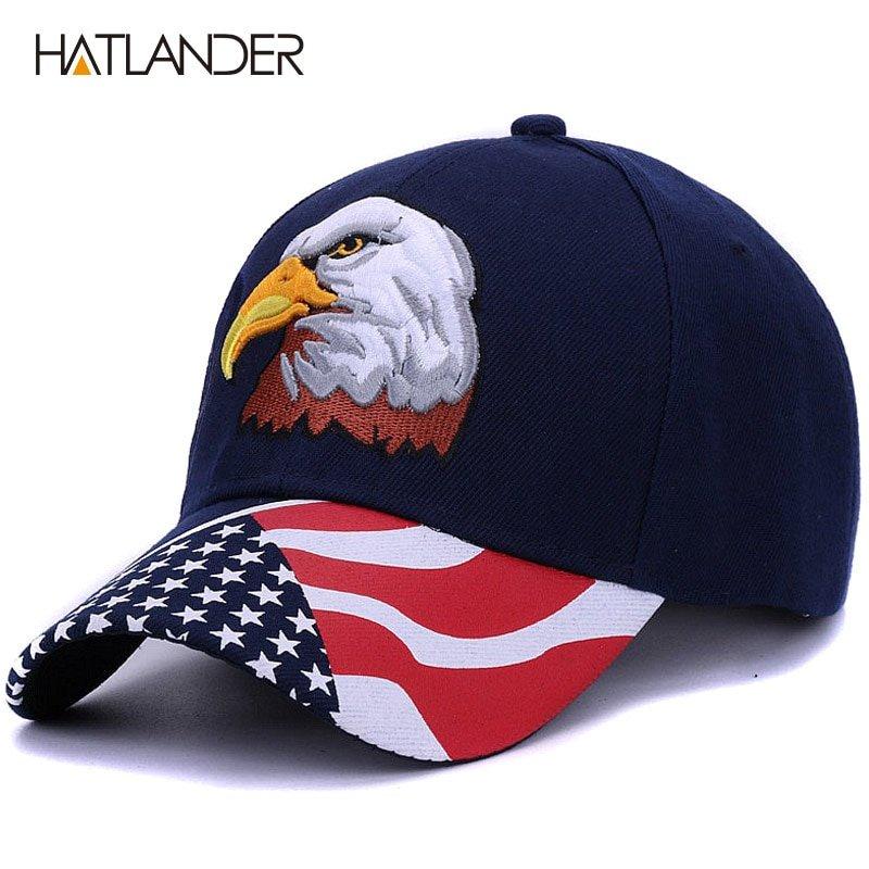 Hatlander2018 Spring Summer Mens Baseball Caps Embroidery Eagle