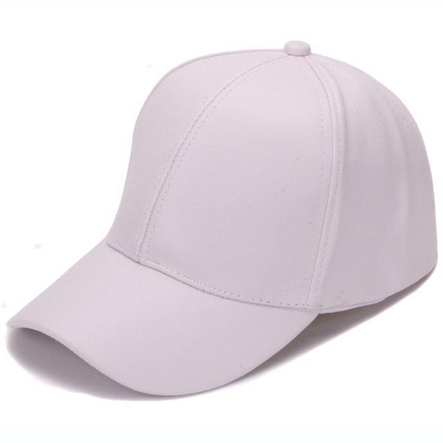 55d3af1bfbd HATLANDER Classic Plain PU baseball cap fashion blank no logo ...