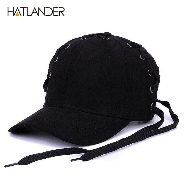 e1be9ec1310 HATLANDER Novelty shoelace baseball caps for women men hip hop ...
