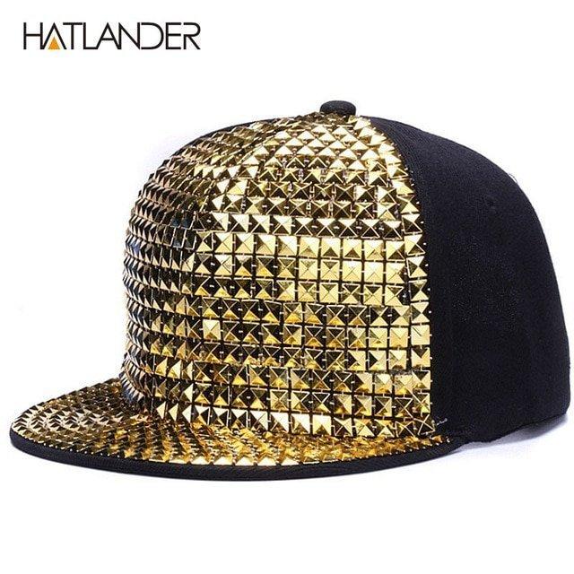 5ed3847ac88 HATLANDER Personality sequins baseball caps flat brim outdoor hats ...