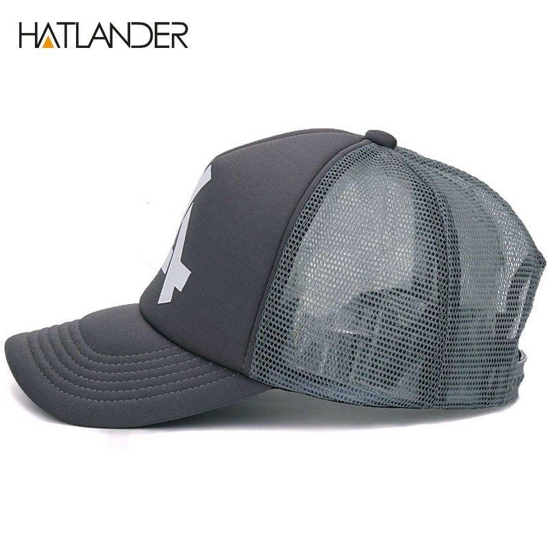 HATLANDER brand casual mesh baseball caps for women summer sun hats ... ed5b8b1049a