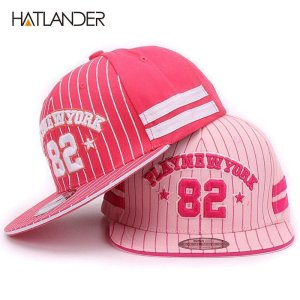 bb318377b0116 Hatlander Kids baseball cap New York 82 Gorras Children Snapback Hip Hop  Caps baby Summer Casual Adjustable Flat Hat For Girl