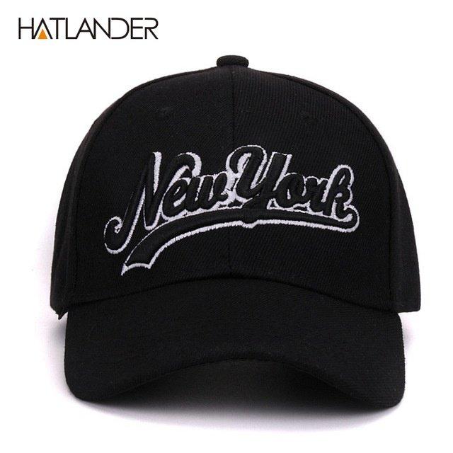 Hatlander New York black baseball caps Las Vegas adjustable sports ... dca2298d894