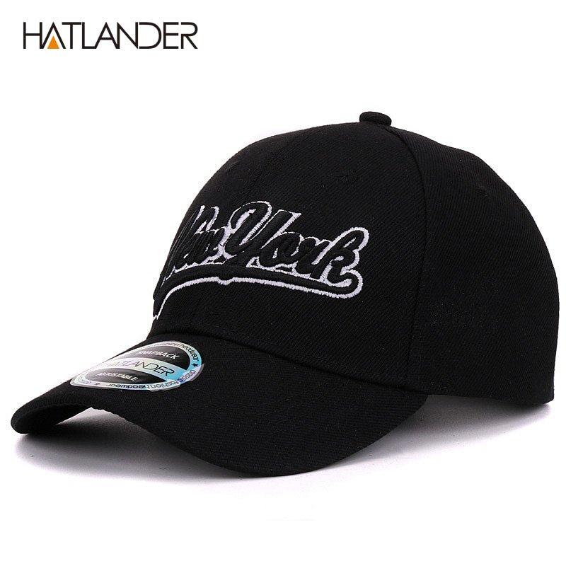Hatlander New York black baseball caps Las Vegas adjustable sports ... c4930e787000