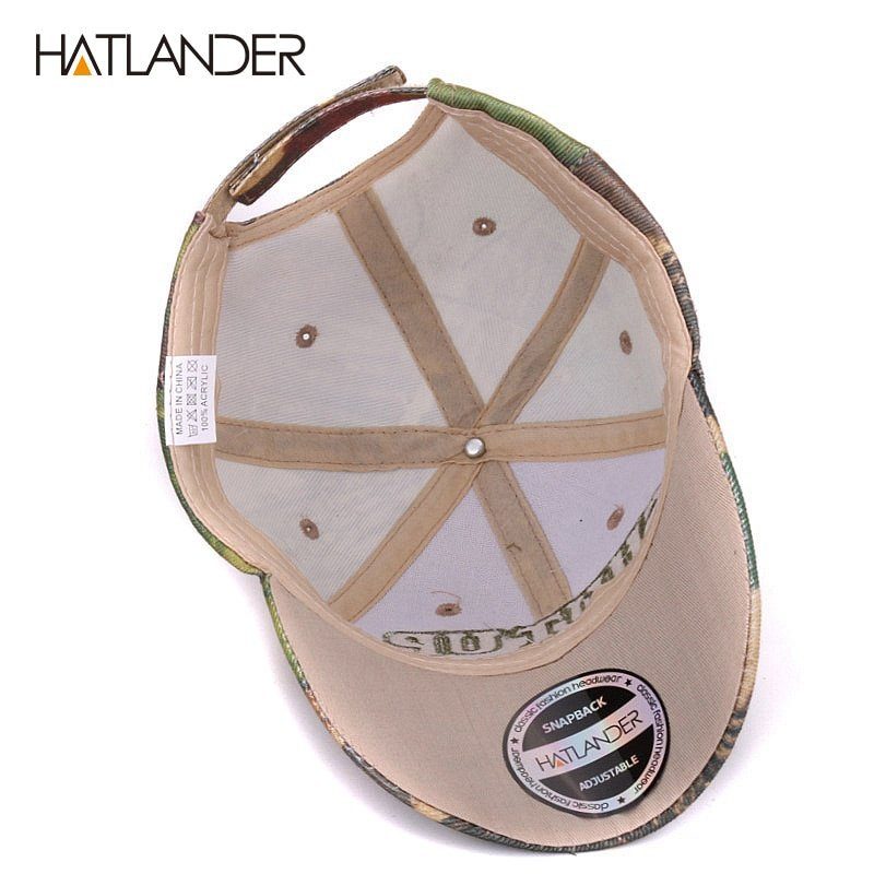 Hatlander outdoor camouflage caps summer sun fishing hat sport ... 58cb36d8bf5d
