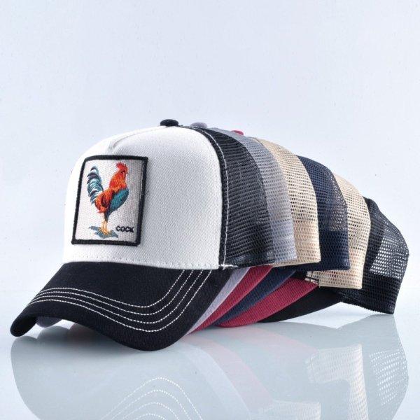Cock Embroidery Baseball Cap Men Women Snapback Caps Breathable Mesh Hip Hop Hats Unisex Casual Eat Chicken Bone Casquette 12