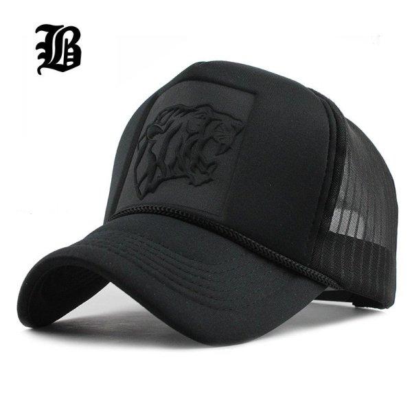 [FLB] 2019 Hip Hop Black leopard Print Curved Baseball Caps Summer Mesh Snapback Hats For Women Men casquette Trucker Cap 1
