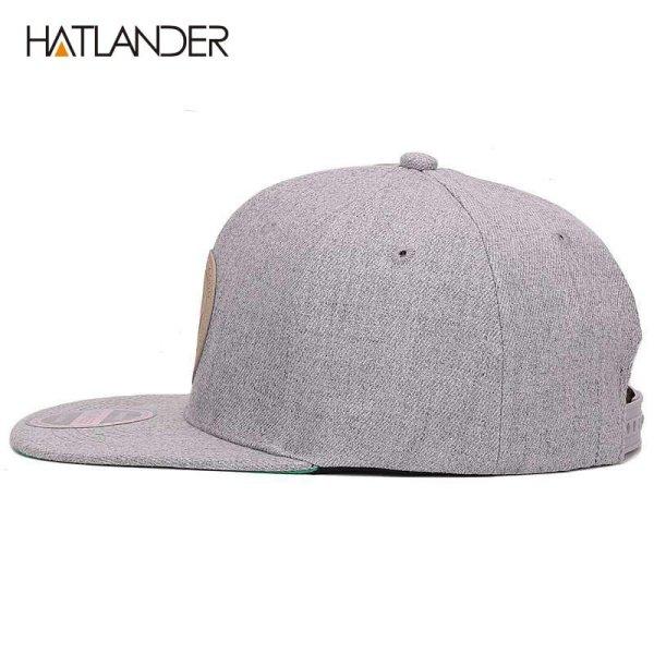 [HATLANDER]Maple solid cotton snapback caps women's flat brim hip hop cap outdoor baseball cap bone gorras mens caps and hats 8