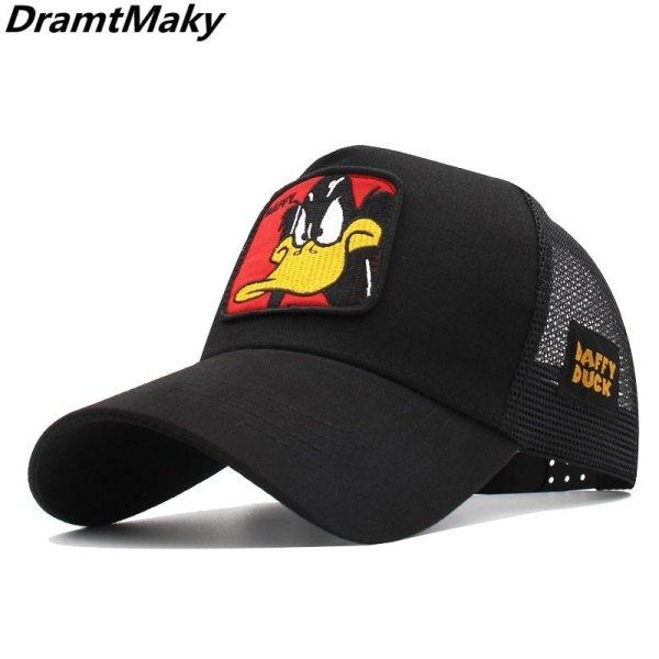 2020 New Animals Donald Duck Embroidery Men's Baseball Cap Women Snapback Hip Hop cap Summer Mesh hat trucker cap Bone gorra dad hat 2
