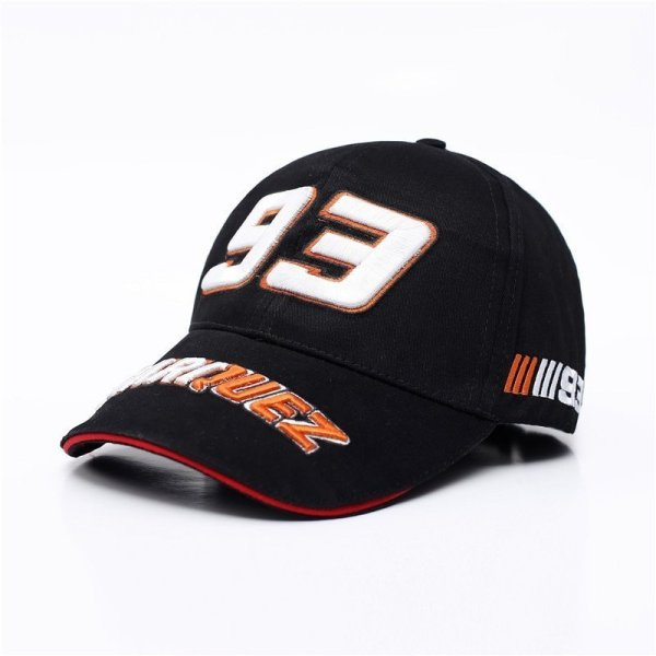 New Snapback Caps Wholesale  Embroidery Baseball Cap Hat Motorcycle Racing 93 Baseball Cap For Men 2