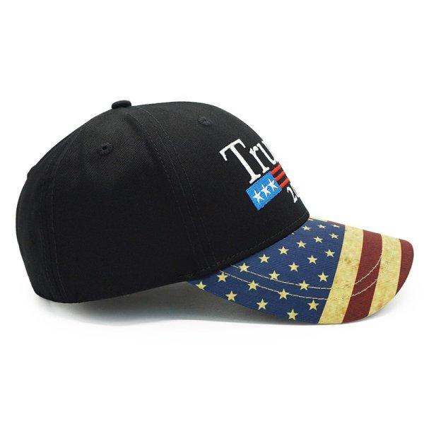 New Vintage Trump 2020 Hat USA Flag Baseball Cap Men Women Snapback Hats Embroidery Bone Unisex Casual Trump Snapback Cap Gorras 3