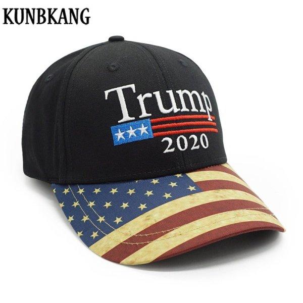 New Vintage Trump 2020 Hat USA Flag Baseball Cap Men Women Snapback Hats Embroidery Bone Unisex Casual Trump Snapback Cap Gorras 1