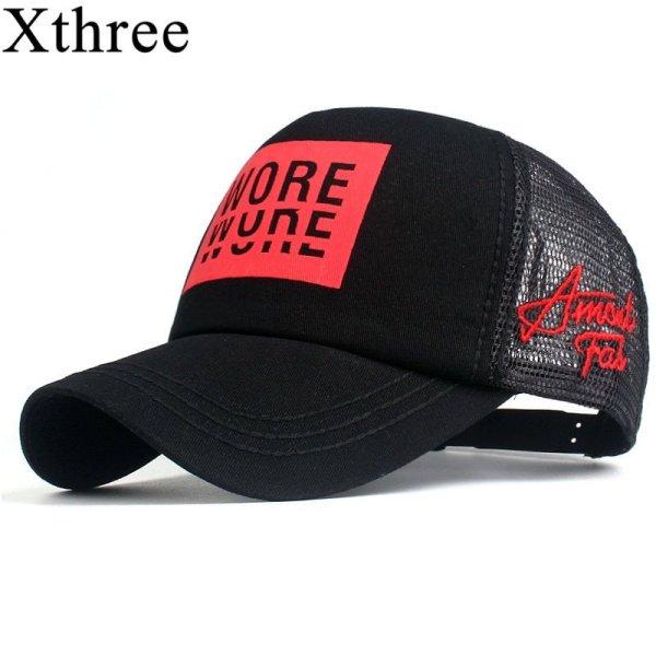Xthree New Men's Baseball Cap Print Summer Mesh Cap Hats For Men Women Snapback Gorras Hombre hats Casual Hip Hop Caps Dad Hat 2