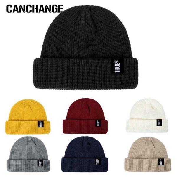 2019 Fashion Unisex Winter Hat Men Cuffed Cib Knit Hat Short Melon Ski Beanies Autumn Winter Solid Color Casual Beanie Hat 4