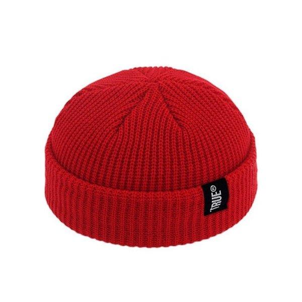 2019 Fashion Unisex Winter Hat Men Cuffed Cib Knit Hat Short Melon Ski Beanies Autumn Winter Solid Color Casual Beanie Hat 6