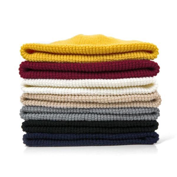 2019 Fashion Unisex Winter Hat Men Cuffed Cib Knit Hat Short Melon Ski Beanies Autumn Winter Solid Color Casual Beanie Hat 12