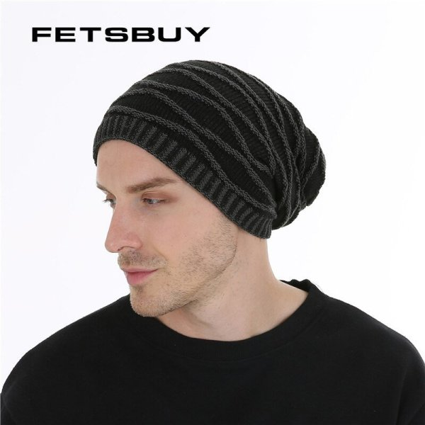 FETSBUY Unisex Bonnet Beanies Autumn And Winter Hat Skullies Hats For Men Women Add Velvet Warm Casual Beanie Gorros Muts #19008 2