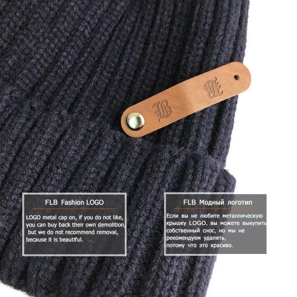 [FLB] Wholesale Real Mink Fur Pom Poms Knitted Hat Ball Beanies Winter Hat For Women Girl 'S Wool Hat Cotton Skullies Female Cap 12