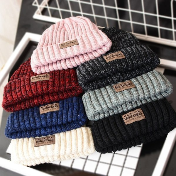 Fashion  Winter Hats for Woman  Casual Beanies for Men Women Warm Knitted Winter Hat Fashion Solid Hip-hop Beanie Hat Unisex Cap 4
