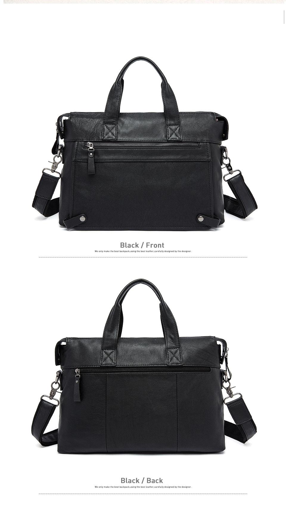 3 handbags men leather