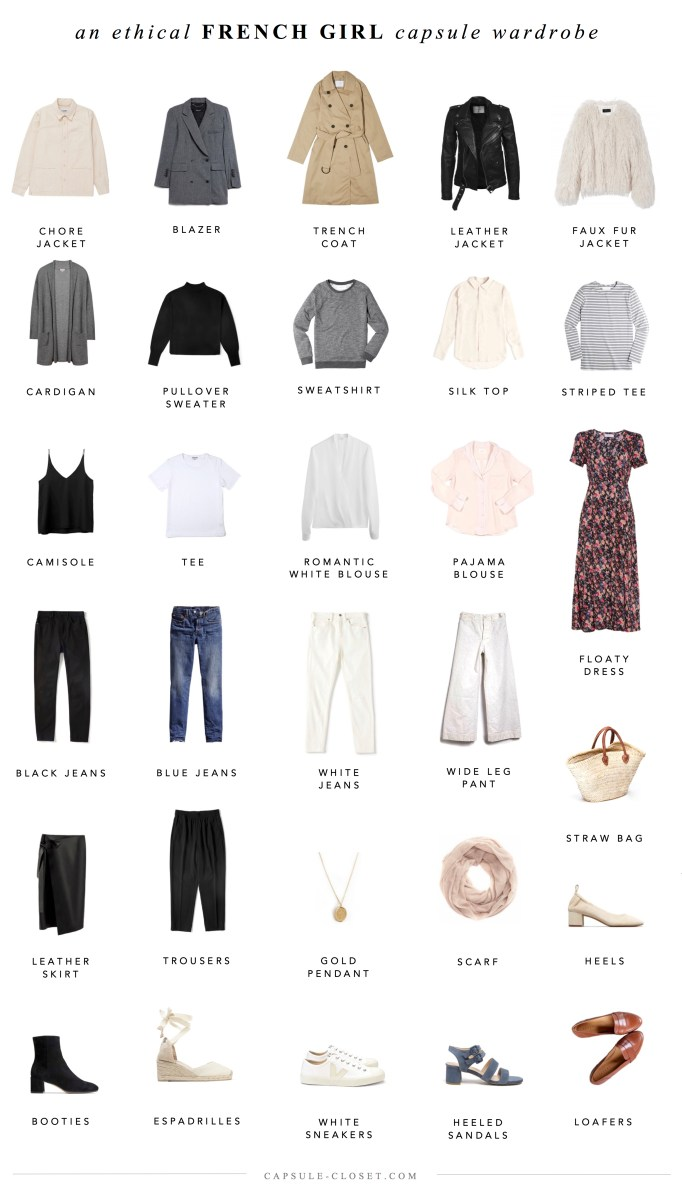 An Ethical French Style Capsule Wardrobe Capsule Closet