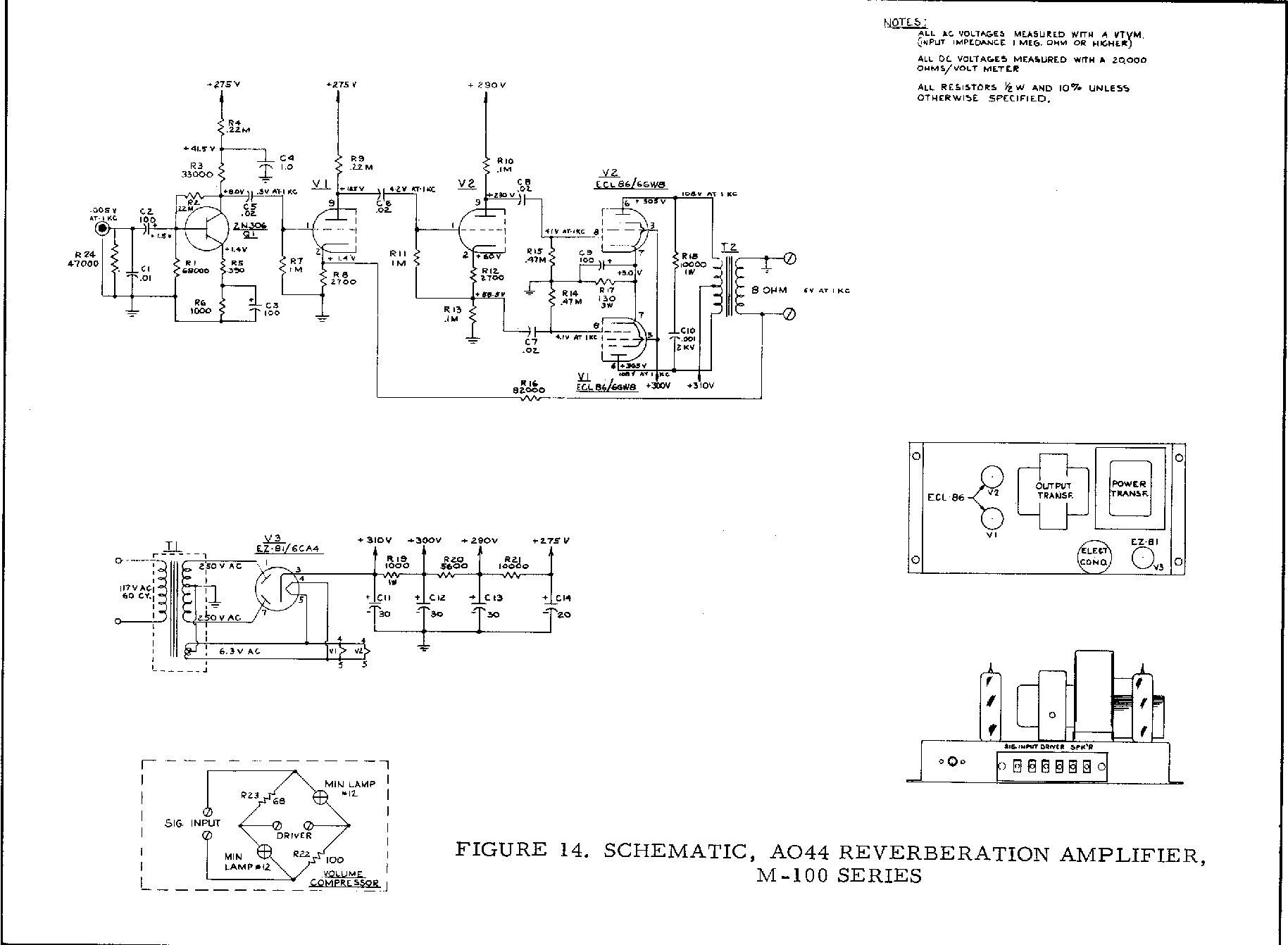 M 100 a 100 ao 44 reverb schematic