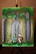 Link and Epona - Acrylic on Canvas